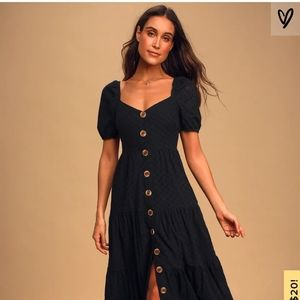 NWT Lulu's You're My Home black eyelet lace dress
